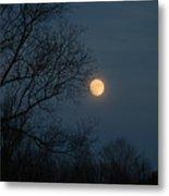 Misty Moonrise Metal Print