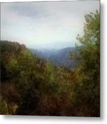 Misty Morn In The Mountains Metal Print