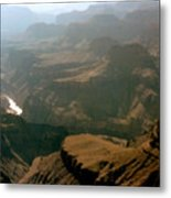 Misty Morning At The Grand Canyon  Metal Print