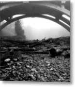 Misty Morning In Black And White Metal Print