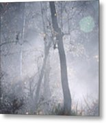 Misty Morning - Ojai California Metal Print