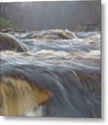 Misty Morning On The River Metal Print