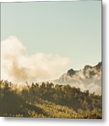 Misty Mountain Peaks Metal Print