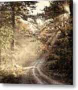 Misty Mountain Road Metal Print
