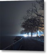 Misty Night Metal Print