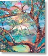 Misty Oak Metal Print