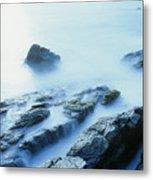 Misty Ocean Metal Print
