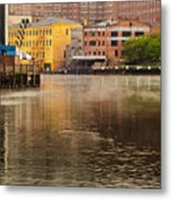 Misty River Cleveland Metal Print