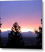 Misty Sunset Metal Print