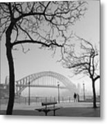Misty Sydney Morning Metal Print