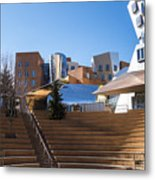 Mit Stata Center Cambridge Ma Kendall Square M.i.t. Staircase Metal Print