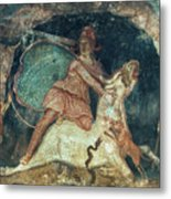 Mithras Killing The Bull - To License For Professional Use Visit Granger.com Metal Print