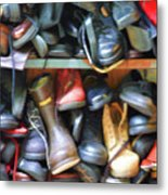 Mix Of Shoes Nyc Metal Print