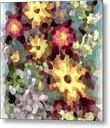 Mixed Floral Metal Print