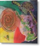 Mixed Media Abstract 15-c11  Metal Print