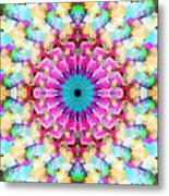 Mixed Media Mandala 9 Metal Print
