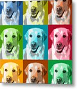 Golden Retriever Warhol Metal Print