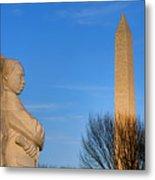 Mlk And Washington Monuments Metal Print
