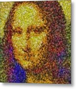 Mm Candies Mona Lisa Metal Print