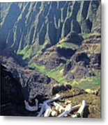 Mmm-119 Sacred Hawaiian Chieftans Resting Place Honopu Arch Metal Print