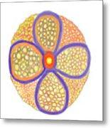 Moasic Flower Metal Print