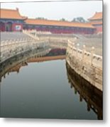 Moat Forbidden City Beijing Metal Print