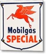 Mobil Gas Vintage Sign Metal Print