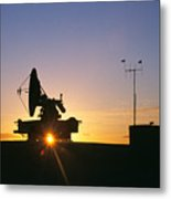 Mobile Radar, White Sands Metal Print