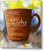Mocha Coffee Cup Metal Print by Jai Johnson