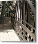 Mocha Colored Walking Bridge In American Fork Canyon Utah Metal Print