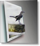 Mockingbird - Use Red-cyan 3d Glasses Metal Print