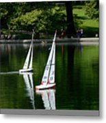 Model Boats Central Park New York Metal Print