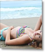 Model Kaitlynn 154 Metal Print