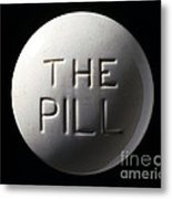 Model Of Contraceptive Pill, C.1970 Metal Print