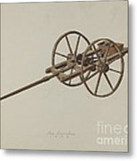 Model Potato Planter Metal Print