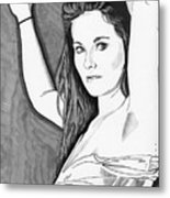 Model Shanna Metal Print