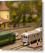 Model Trains Metal Print