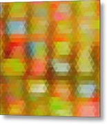 Modern Abstract Mosaic Color Combination 4 Metal Print