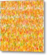Modern Abstract Pointilist Color Combination 1 Metal Print