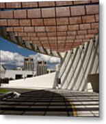 Modern Architecture Of Ismaili Centre Entrance With Aga Khan Mus Metal Print
