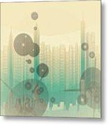 Modern City Abstract Metal Print