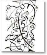 Modern Drawing Forty-seven Metal Print