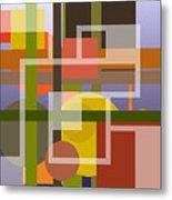 Modern Harmonious Abstract Metal Print