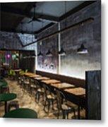 Modern Industrial Contemporary Interior Design Restaurant Metal Print