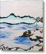 Modern Japanese Art In The Shadow Of The Past - Utsumi And Kano School Metal Print