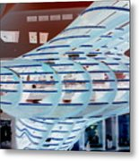 Ghostly Shopping Mall Metal Print