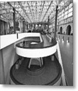 Modern Minimalist Spiral Stairs Metal Print