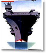Modern Mobile Mighty Navy Metal Print