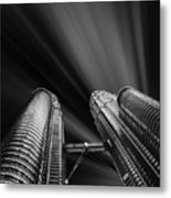 Modern Skyscraper Black And White Picture Metal Print