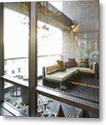 Modern Sofa And Sculptures Metal Print by Andersen Ross